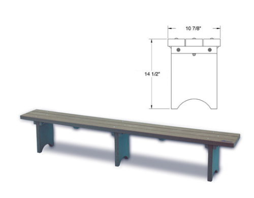 Plastic Bench (Custom per Foot)