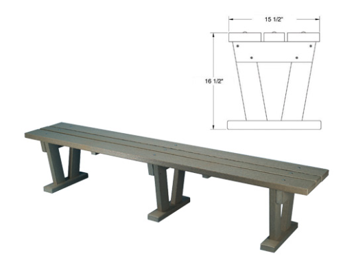 Wide Bench (Custom per Foot)