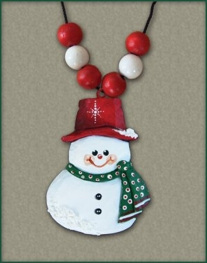 """Snowman Necklace"" #1/96"
