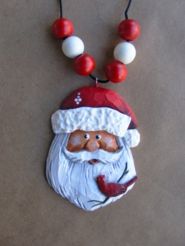 """Santa Necklace"" #1/96 - w/Cardinal"