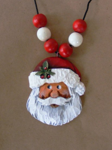 """Santa Necklace"" #1/96 - w/Holly"