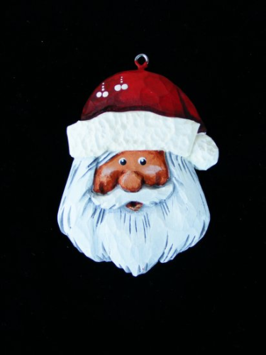 """Mini Santa Ornament"" - #1/19"