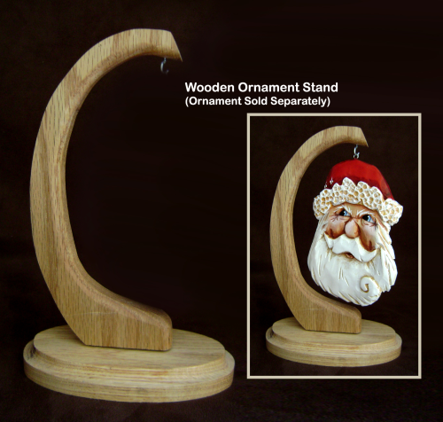 """Wooden Ornament Stand"" Size - H:8.5"" W: 5.5"" 318/01"