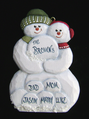 """Personalized Snowcouple Ornament"" 20/227"