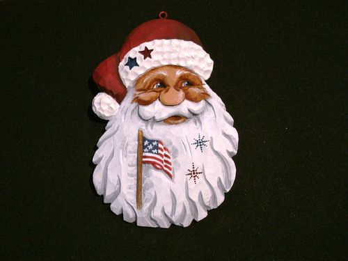 "Ornament - ""Patriotic Santa"" 20/332"