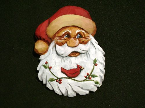 "Ornament - ""Santa with Cardinal"" 20/251"
