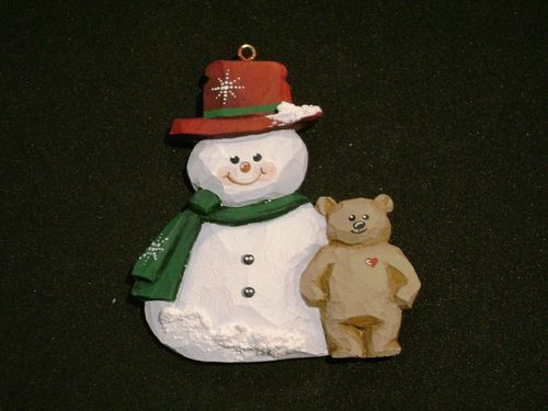 """Snowman with Teddy Bear"" - #1/33"