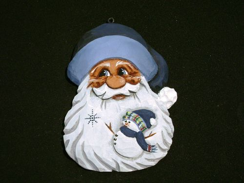 """Santa with Snowman in Beard"" - #20/317B"