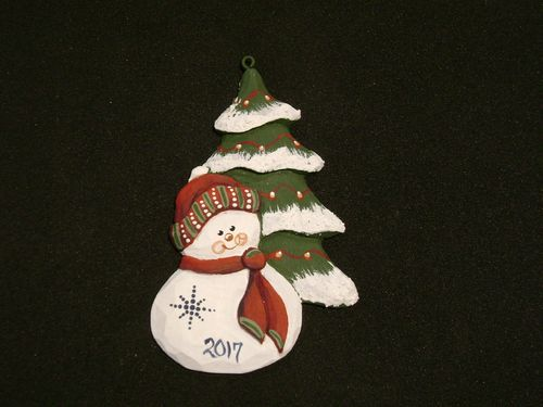 """Snowman with Tree"" - #20/237R"