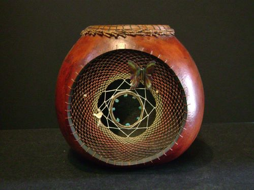 "Ruth Schumacher ""Dream Catcher Gourd"" - #83/44"