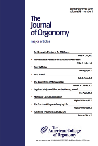 The Journal of Orgonomy | Volume 52:1