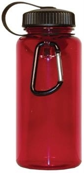 Red Carabiner Bottle .75 Liter